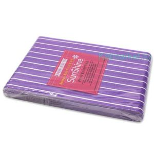 Шлифовка SunShine 100/180, фиолетовая прямая блок 10шт