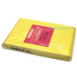 Шлифовка SunShine 100/180, желтая прямая блок 10шт
