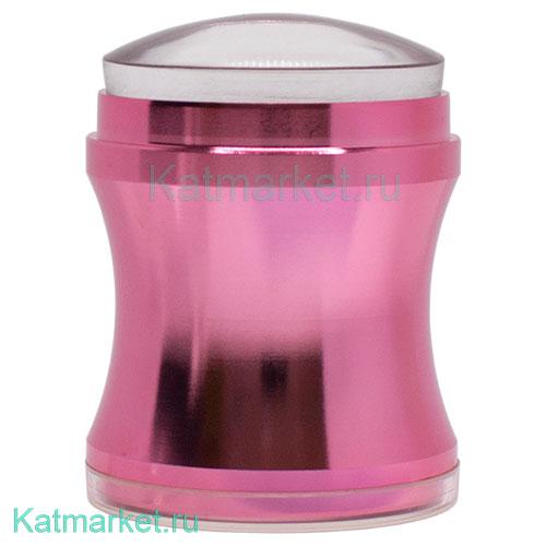 Divinail Штамп для стемпинга металлический хром, розовый